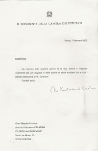 Rapporti diplomatici for Vice presidente della camera dei deputati